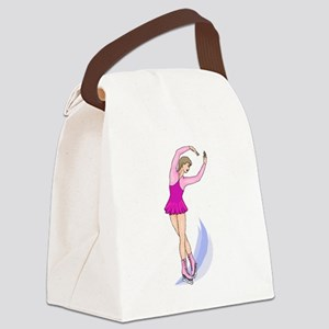 Ice Skating Canvas Lunch Bag