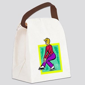 Spinning Canvas Lunch Bag