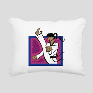High Kick! Rectangular Canvas Pillow