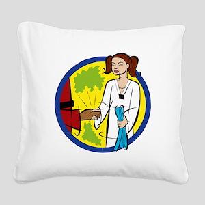 Karate Blue Belt Square Canvas Pillow