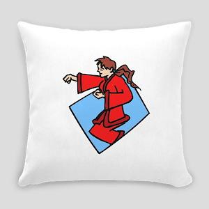 Martial Arts Girl Everyday Pillow
