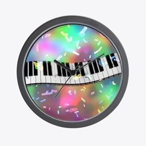 Rainbow Keyboard Wall Clock