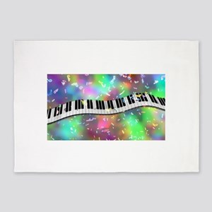 Rainbow Keyboard 5'x7'Area Rug