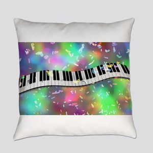 Rainbow Keyboard Everyday Pillow