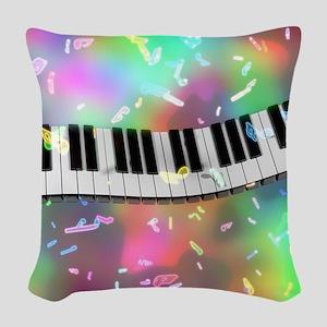 Rainbow Keyboard Woven Throw Pillow