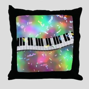 Rainbow Keyboard Throw Pillow