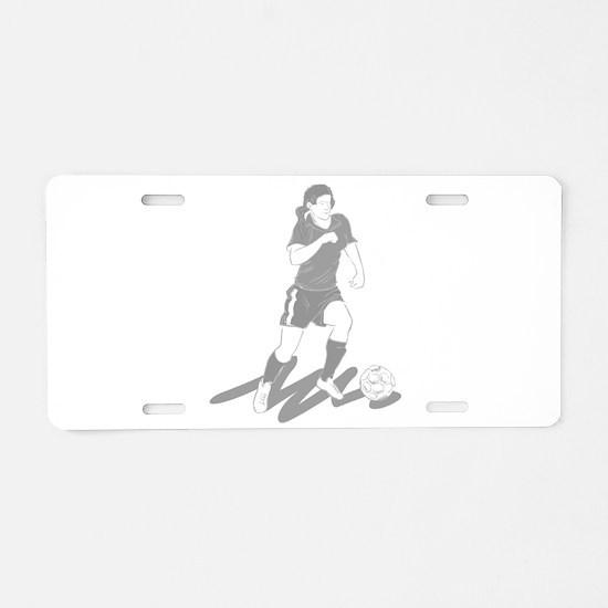Soccer Girl Aluminum License Plate