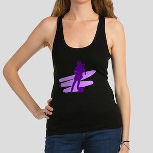 Purple Soccer Girl Racerback Tank Top