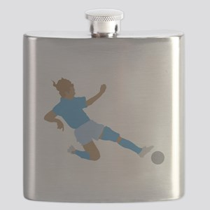 Pink Soccer Girls Flask