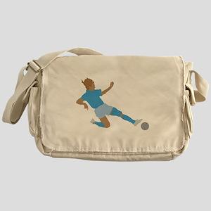 Pink Soccer Girls Messenger Bag