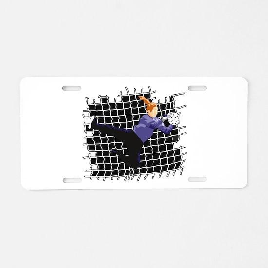 Soccer Girl Goalie Aluminum License Plate