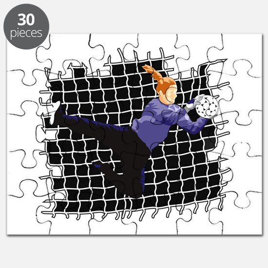 Soccer Girl Goalie Puzzle