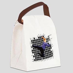 Soccer Girl Goalie Canvas Lunch Bag