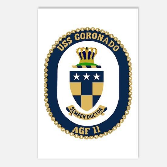 USS Coronado (AGF 11) Postcards (Package of 8)