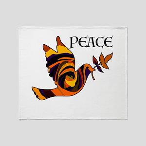 Peace Dove-MC Throw Blanket