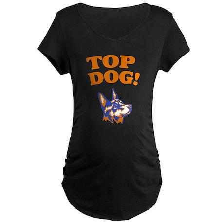 Australian Kelpie Maternity Dark T-Shirt
