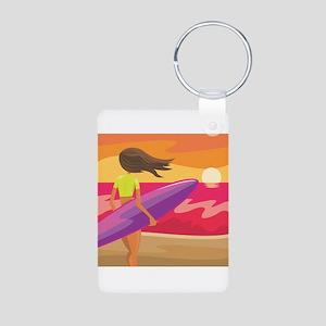Surf Scape Aluminum Photo Keychain