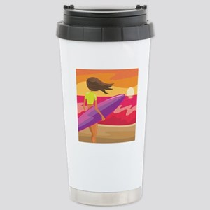 Surf Scape Stainless Steel Travel Mug