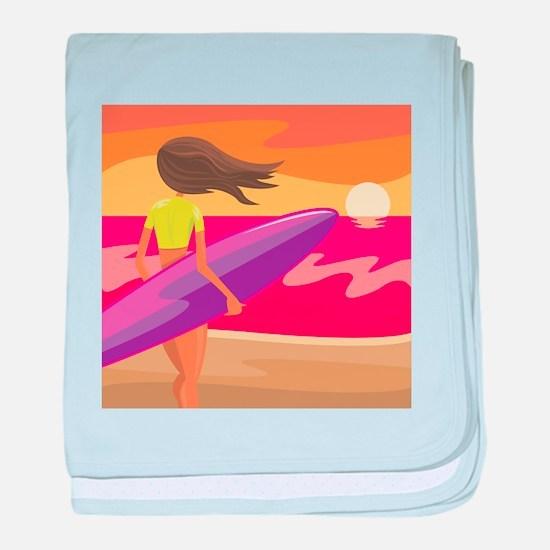 Surf Scape baby blanket