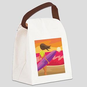 Surf Scape Canvas Lunch Bag