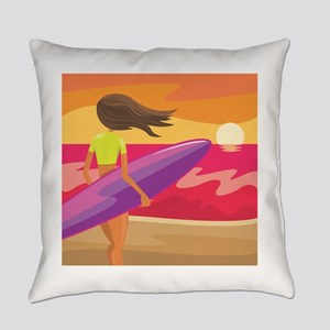 Surf Scape Everyday Pillow