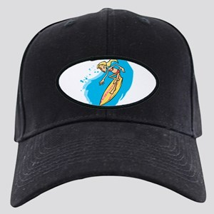 Surfer Girl Black Cap