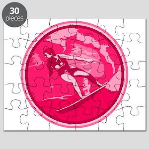 Pink Surf Logo Puzzle