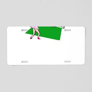 Tennis Match Aluminum License Plate