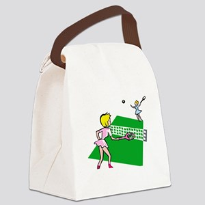 Tennis Match Canvas Lunch Bag