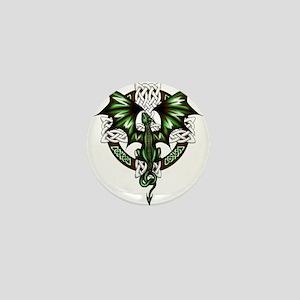 Celtic Dragon Mini Button