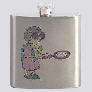 Seniors Tennis Team Flask