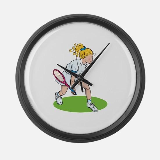 Tennis Girl Large Wall Clock