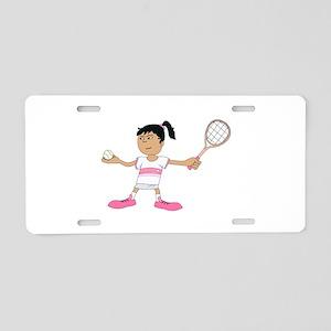 Tennis Girl Aluminum License Plate