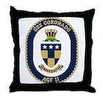 USS Coronado (AGF 11) Throw Pillow