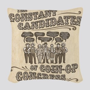 Coin-Op Congress II Woven Throw Pillow