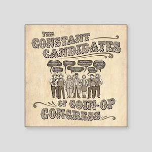 "Coin-Op Congress II Square Sticker 3"" x 3"""