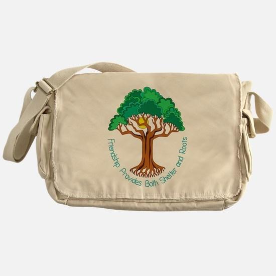 Bright Colored Friendship Tree Messenger Bag