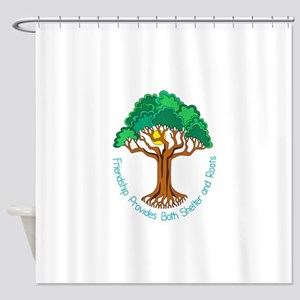 Bright Colored Friendship Tree Shower Curtain
