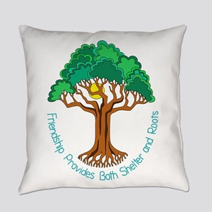Bright Colored Friendship Tree Everyday Pillow
