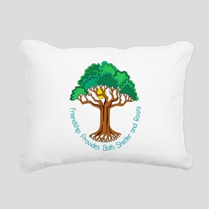 Bright Colored Friendshi Rectangular Canvas Pillow