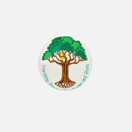 Bright Colored Friendship Tree Mini Button
