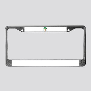Bright Colored Friendship Tree License Plate Frame