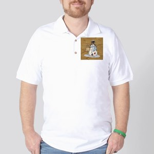 Folk Art Snowman Golf Shirt
