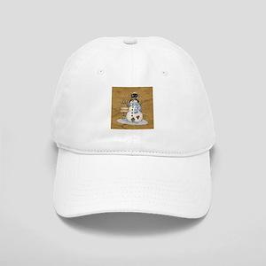 Folk Art Snowman Cap