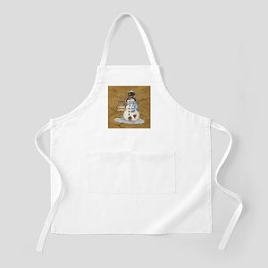 Folk Art Snowman Apron