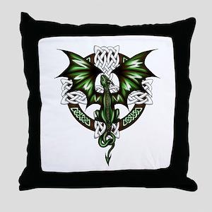 Celtic Dragon Throw Pillow