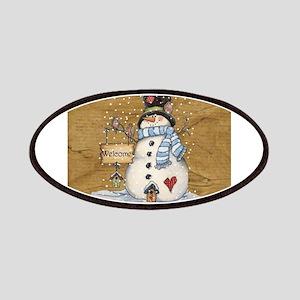 Folk Art Snowman Patch