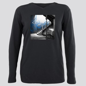 Gothic Staircase Plus Size Long Sleeve Tee