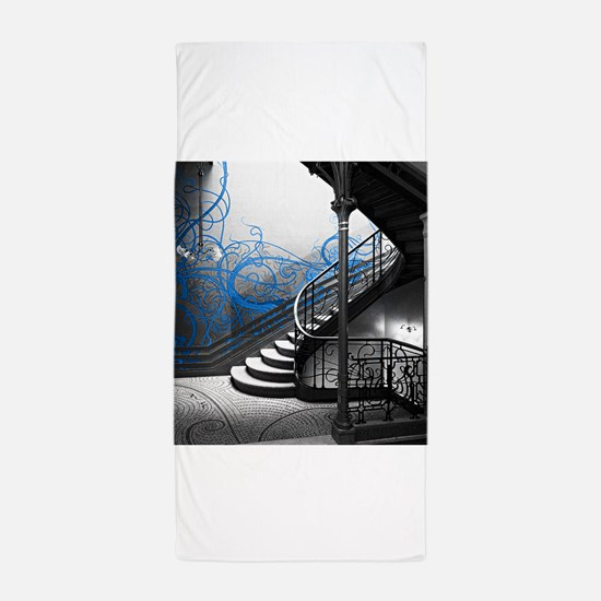 Gothic Staircase Beach Towel