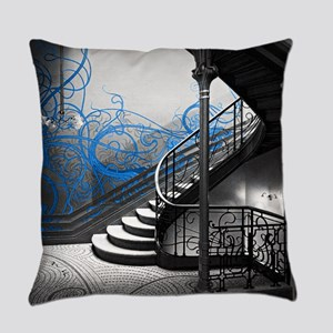 Gothic Staircase Everyday Pillow